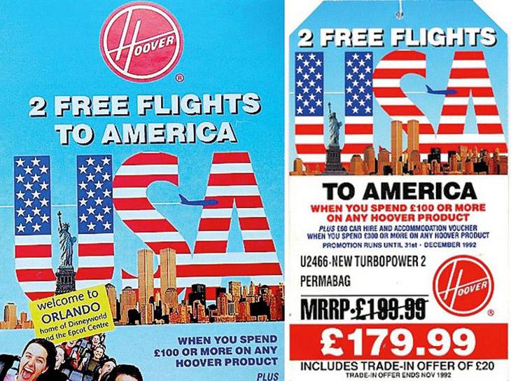 promosi penerbangan percuma oleh hoover