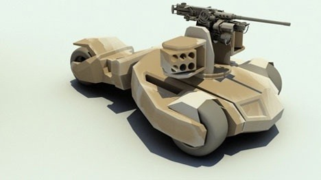 prototaip kereta kebal seperti tumbler batman