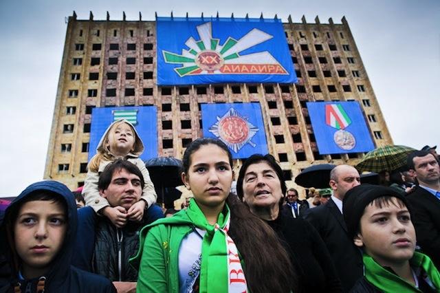 rakyat abkhazia berhimpun