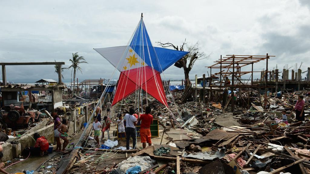 rakyat filipina kesan taufan