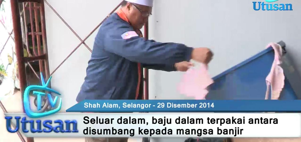 rakyat malaysia amat pemurah derma baju dan seluar dalam terpakai