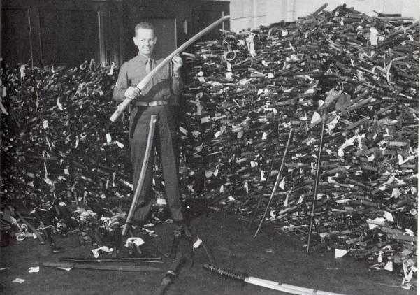 rampasan pedang katana jepun oleh amerika syarikat
