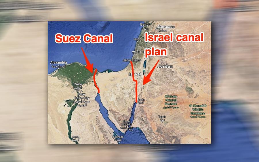 rancangan amerika israel bina terusan ganti suez