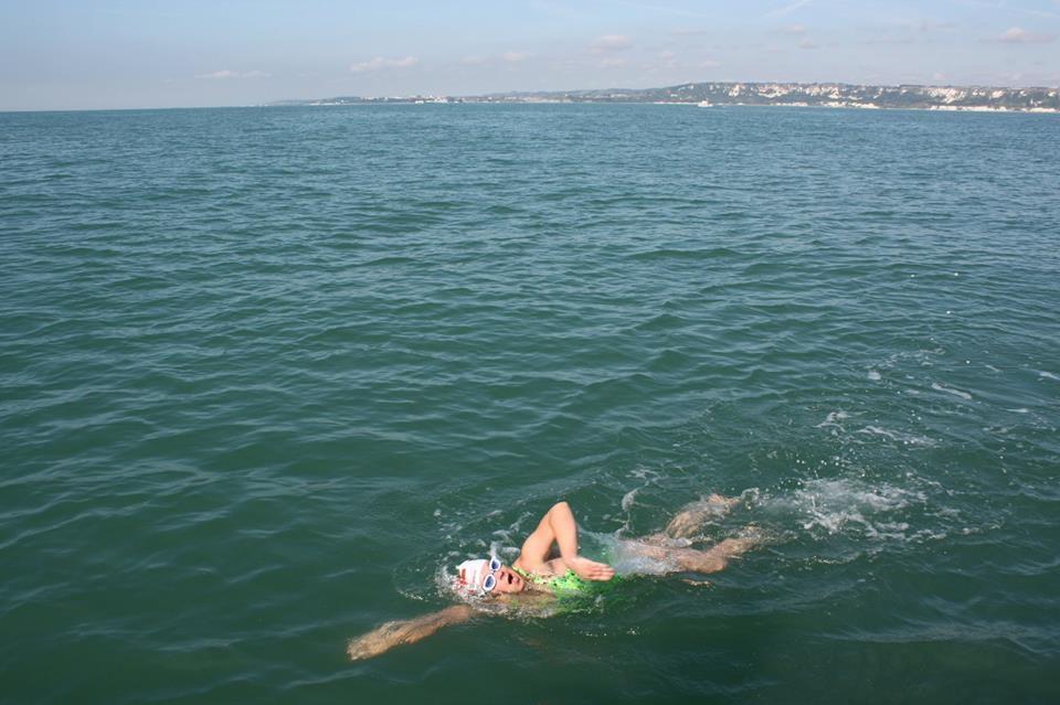 regan scheiber terusan inggeris berenang ketika hamil mengandung