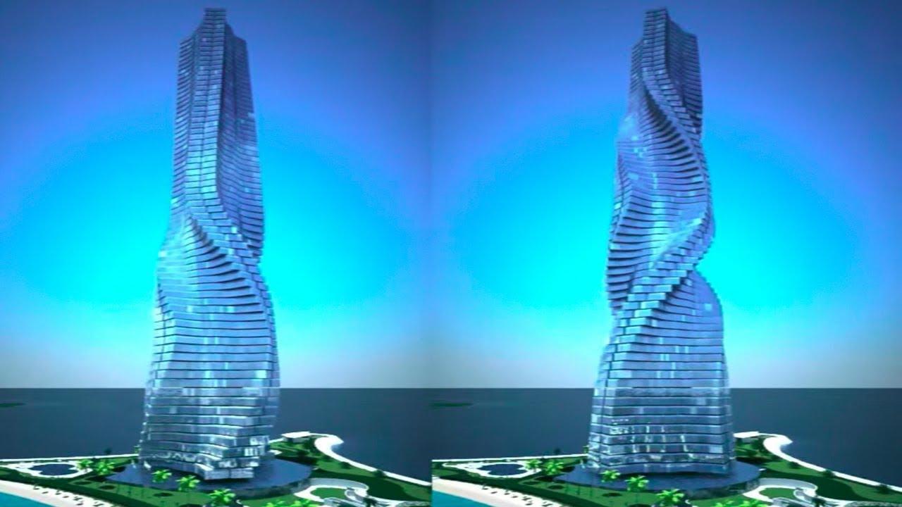 rekaan bangunan futuristik