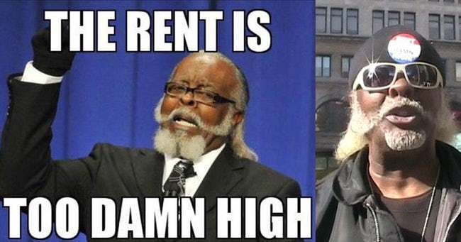 rent is damn too high