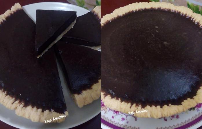 resepi tart coklat melting
