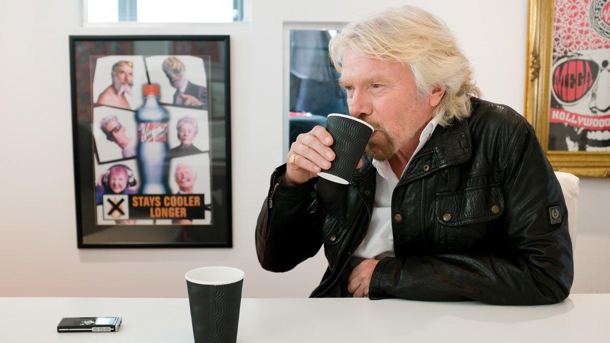 richard branson minum 20 cawan teh setiap hari