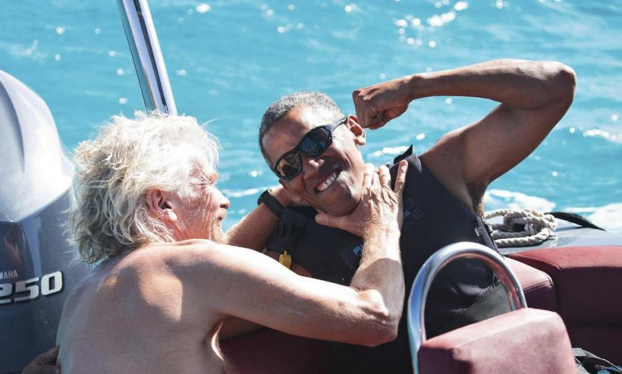 richard branson obama kitesurfing