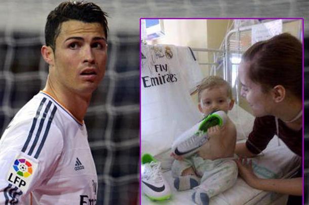 ronaldo membantu bayi yang sakit erik ortiz cruz