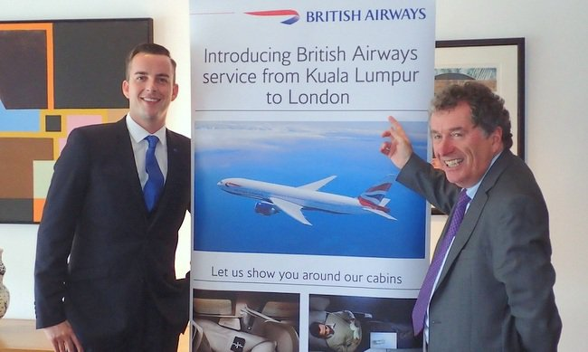route news for enrich and oneworld members british airways and kul to sin