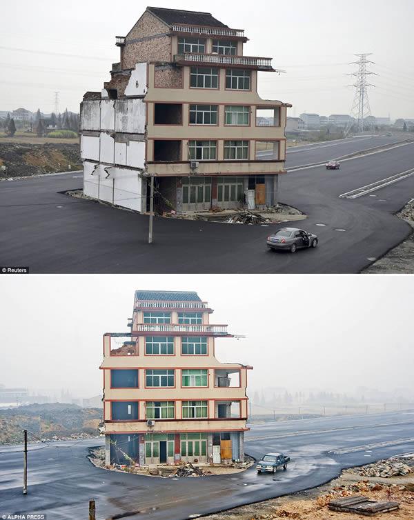 rumah china tengah jalan