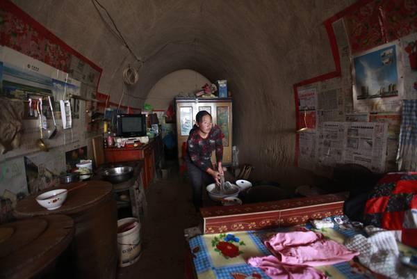 rumah gua di china