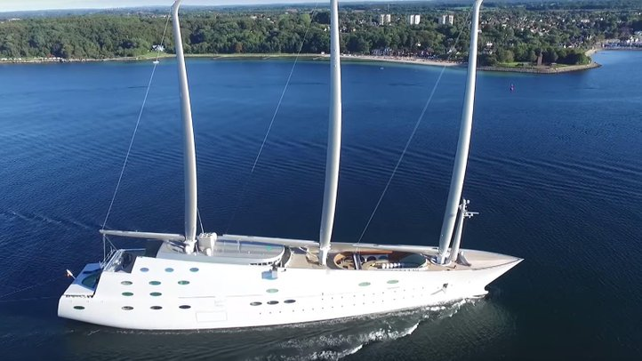 sailing yacht a top view