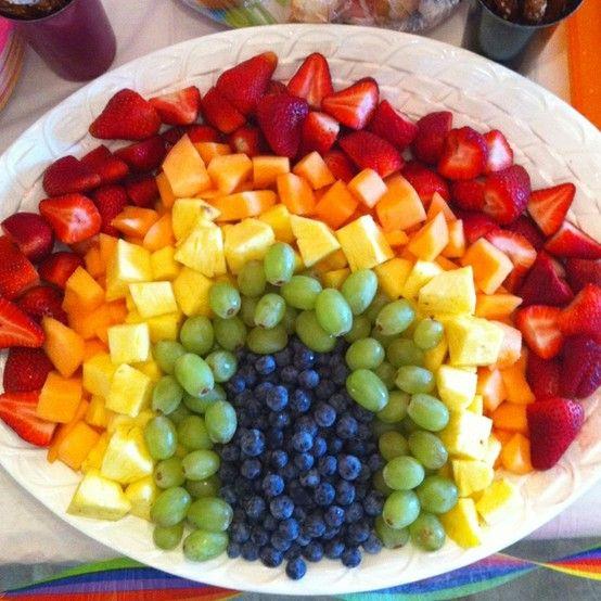 salad buah pelangi sos madu dan limau nipis resepi mudah