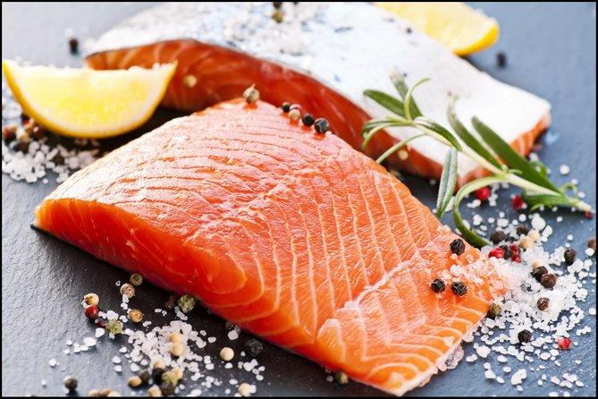 salmon segar warna oren