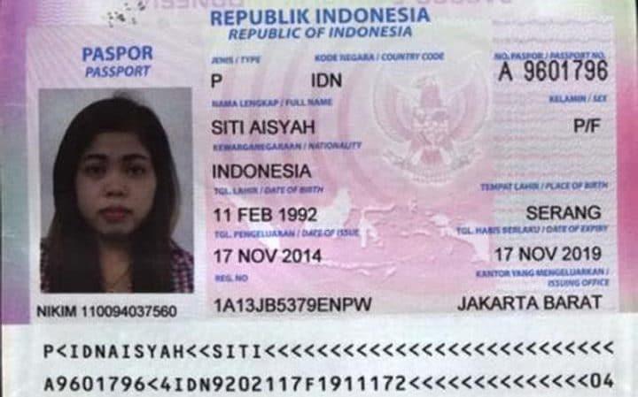 saspek kedua kes pembunuhan kim jong nam siti aishah indonesia