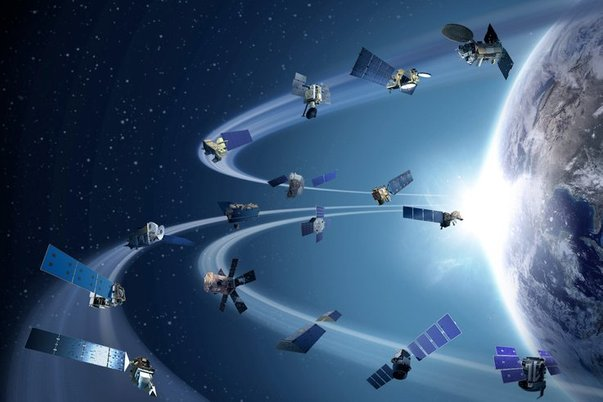 satelit bumi ilustrasi