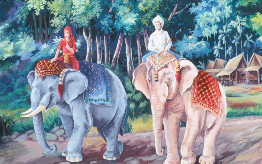 sejarah asal usul simpulan bahasa gajah putih