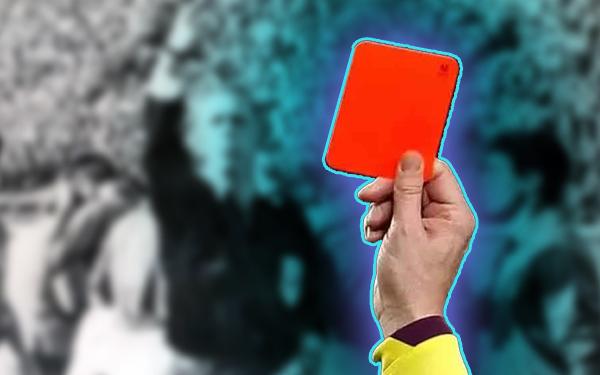 sejarah kad merah kad kuning dalam bola
