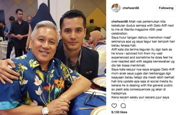 selepas kritik datuk aliff syukri isu makan tepi jalan datuk chef wan dedah kisah terserempak dengan aliff 2