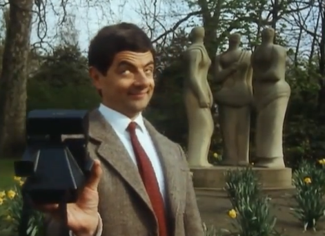 selfie mr bean