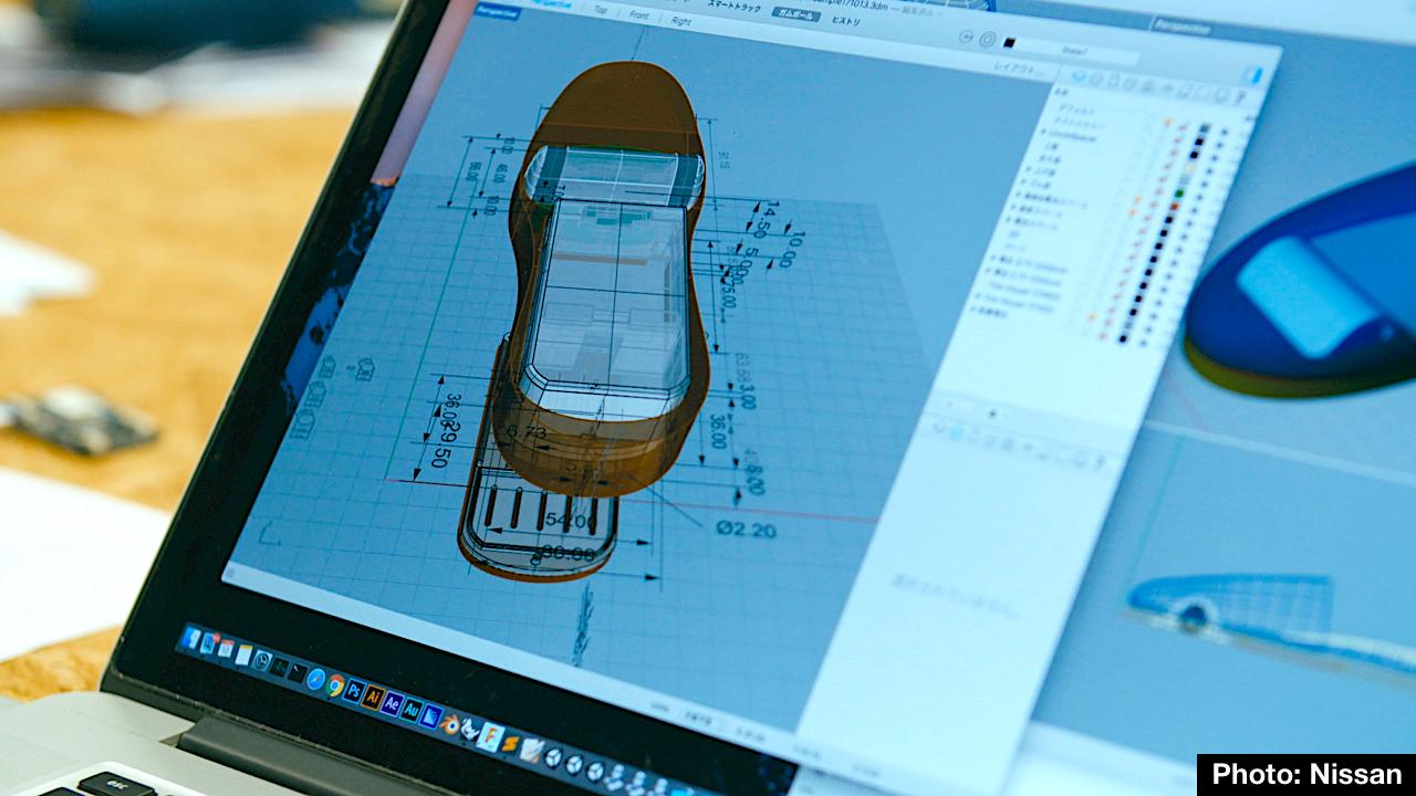 selipar teknologi tinggi boleh menyusun diri sendiri secara automatik nissan jepun 8