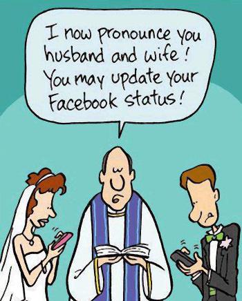 semua perkara nak update di facebook