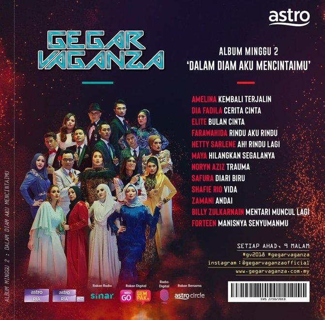 senarai lagu tugasan konsert kedua gegar vaganza 5 2 772