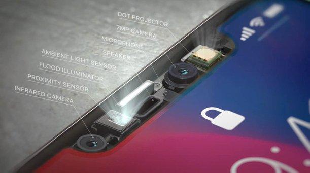 sensor di bahagian notch hodoh iphone x