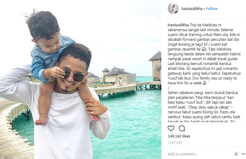 sepatutnya tak bawa yusuf iskandar ke maldives hanis zalikha 2