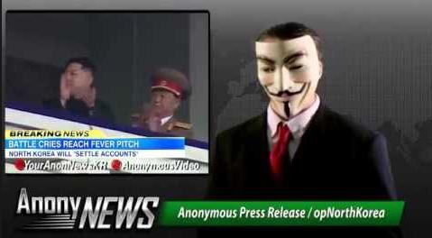 serangan ke atas korea utara oleh anonymous