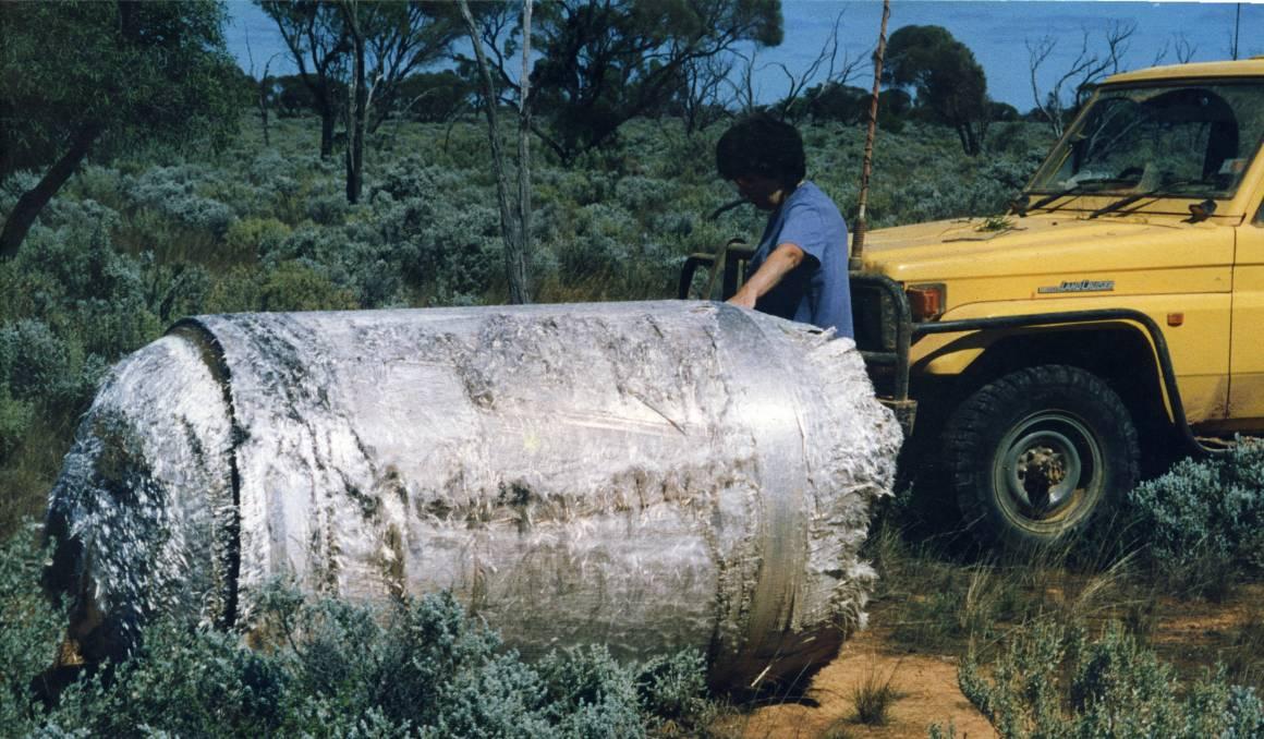 serpihan besar dari skylab di australia