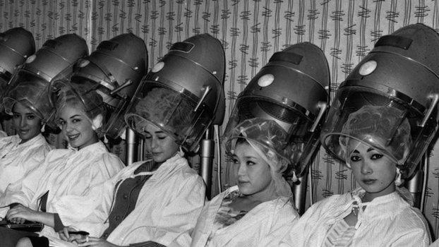 servis mengering rambut di salon