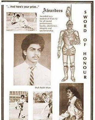 shah rukh khan menerima sword of honour