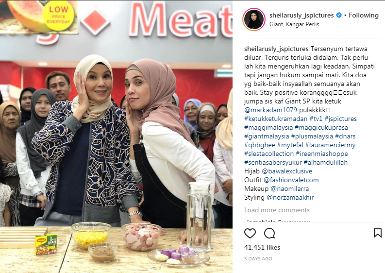 sheila rusly dikritik jemput izreen di ketuk ketuk ramadhan