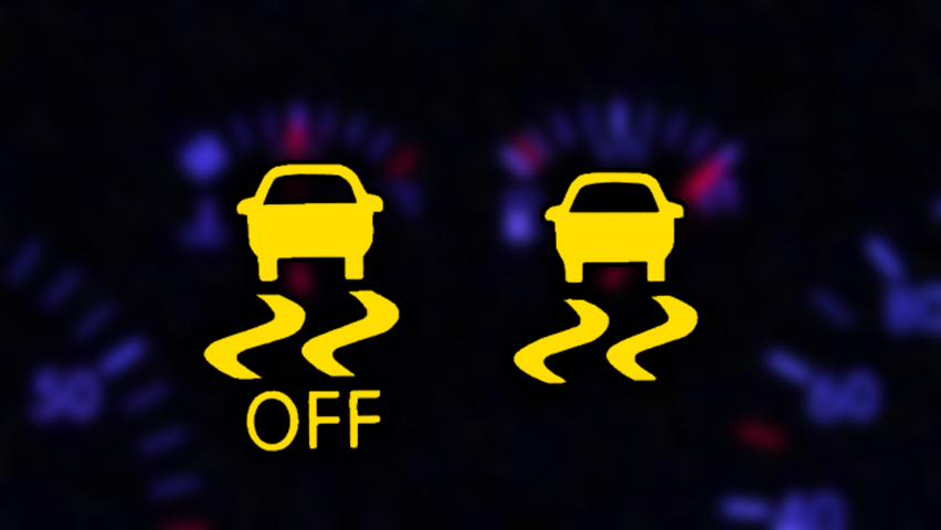 simbol tcs traction control system