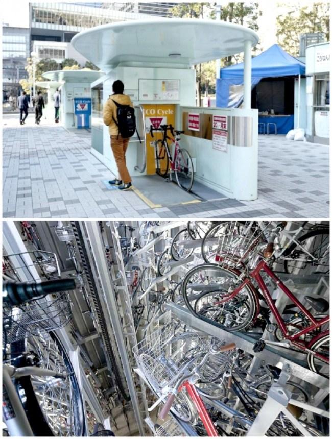 sistem parkir basikal bawah tanah