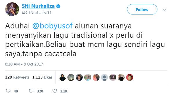 siti nurhaliza beri komen persembahan bob 2