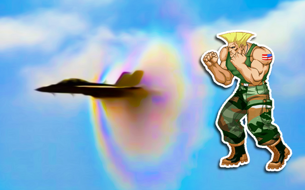 sonic boom jet pejuang guile street fighter