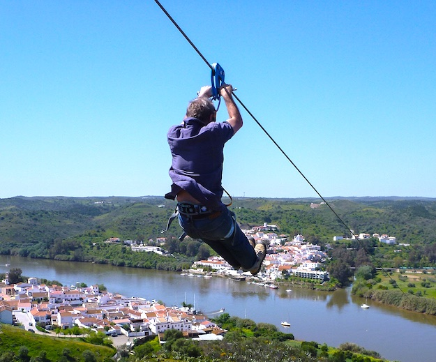 spain portugal border zipline photo