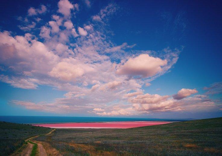 spencer lake adalah pink lake di australia