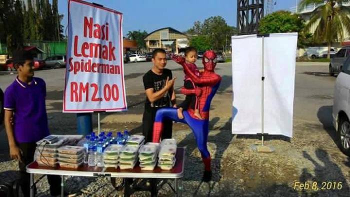 spiderman nasi lemak