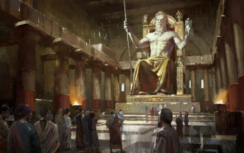 statue of zeus olympia keajaiban dunia seven wonders