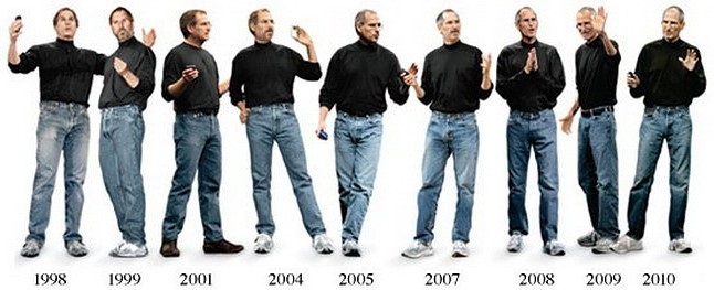 steve jobs dari muda sampai tua pakai baju sama je