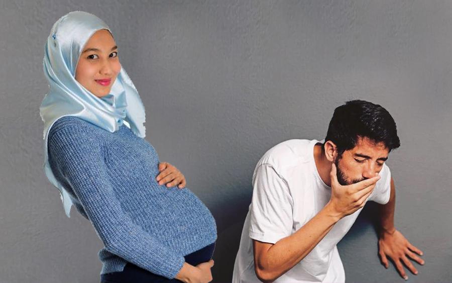 suami alahan muntah muntah ketika isteri mengandung