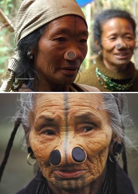 sumbat hidung dengan kayu modifikasi tubuh