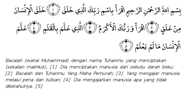 surah al alaq dan maksudnya
