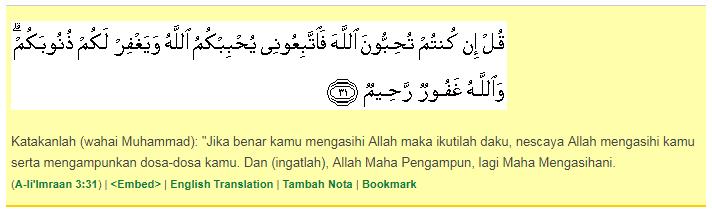 surah ali imran ayat ke 31