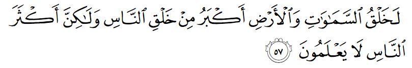 surah ghafir ayat 57 72
